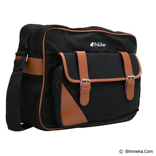 PULCHER Aquilla [I-01] - Black - Sling-Bag Pria